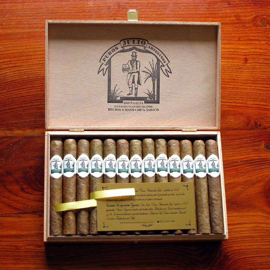 Puros Artesanos Julio Sumatra · Tabaco hecho en La Palma · Canarias