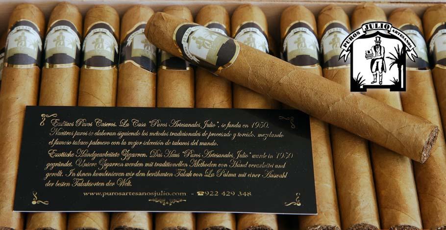 Puro Palmero Artesano Julio Premium Connecticut · Tabaco hecho a mano en La Palma · Canarias