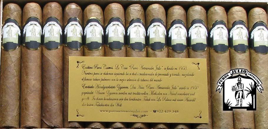 Puros Palmero Artesano Julio Premium Sumatra · Tabaco hecho a mano en La Palma · Canarias · Puro Arte Palmero